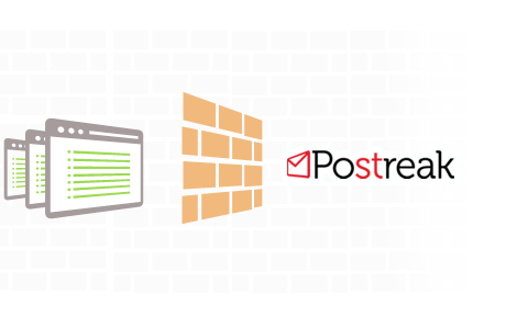 Postreak resides behind your firewall giving your complete security control